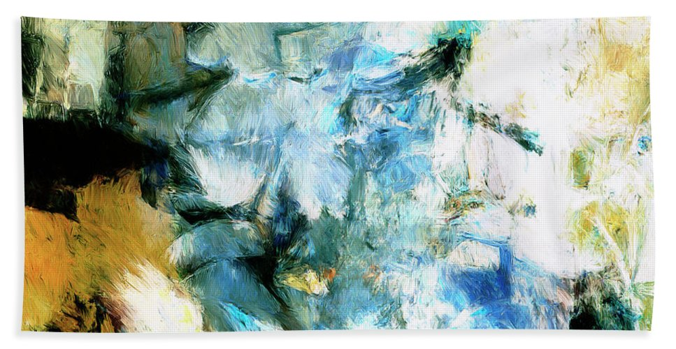 Abstract Beach Towel featuring the painting Manifestation by Dominic Piperata