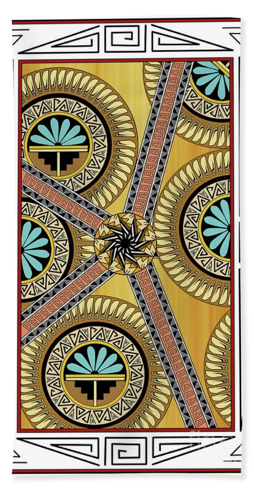 Southwest Beach Towel featuring the digital art Many Circles by Tim Hightower