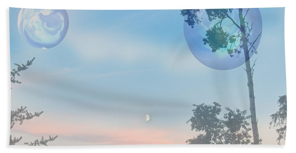 Moon Beach Towel featuring the photograph Many Moons by Andrea Lawrence