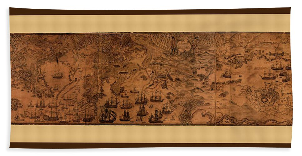 Cape Breton Beach Towel featuring the photograph Map Of Cape Breton 1764 by Andrew Fare