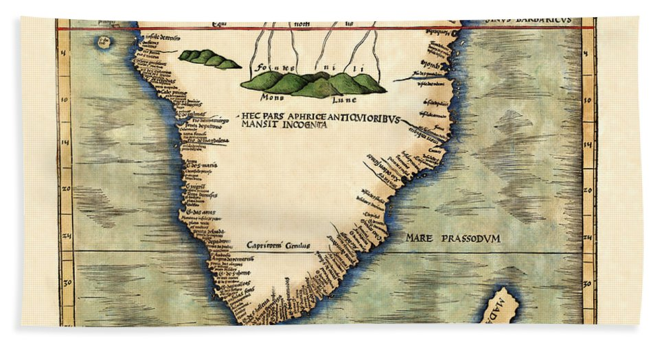 Map Of South Africa Beach Towel featuring the photograph Map Of South Africa 1513 by Andrew Fare