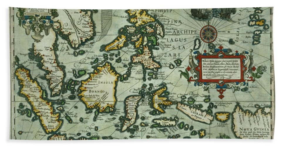 Map Of The East Indies Beach Towel For Sale By Dutch School