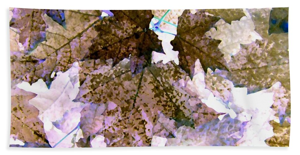 Maple Leaves Beach Towel featuring the digital art Maple Mania 25 by Will Borden