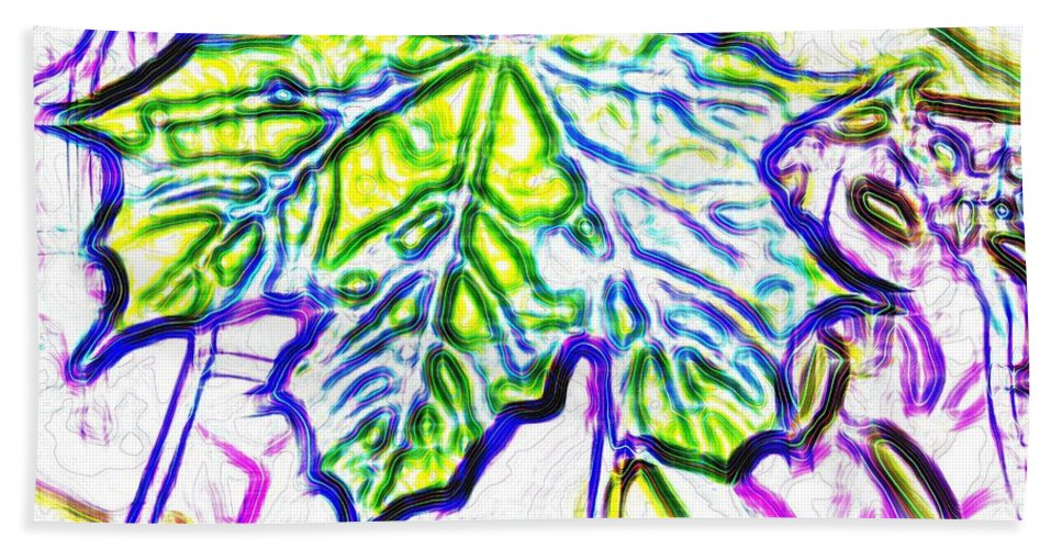 Maple Leaf Beach Towel featuring the digital art Maple Mania 27 by Will Borden