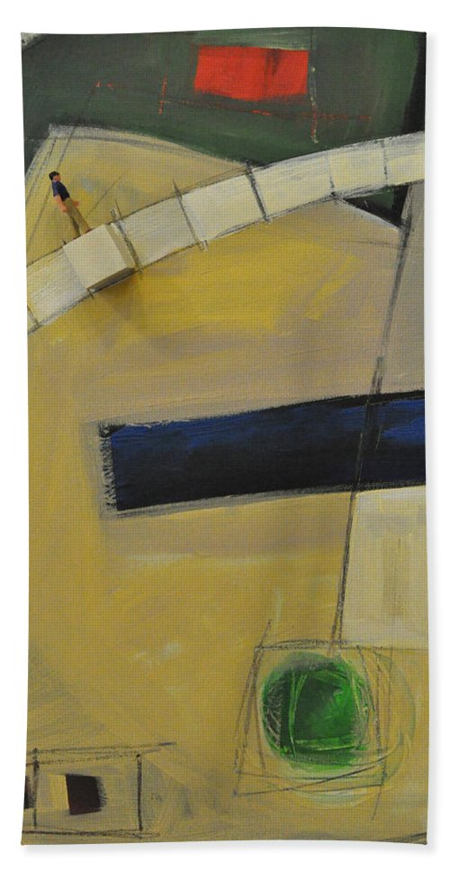 Marching Orders Beach Towel featuring the painting Marching Orders - Dna by Tim Nyberg