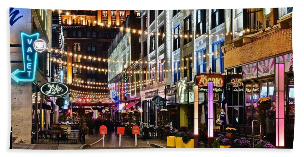 Cleveland Beach Towel featuring the photograph Mardi Gras In Cleveland by Frozen in Time Fine Art Photography
