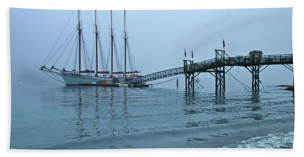 margaret Todd Beach Towel featuring the photograph Margaret Todd In A Fog by Paul Mangold