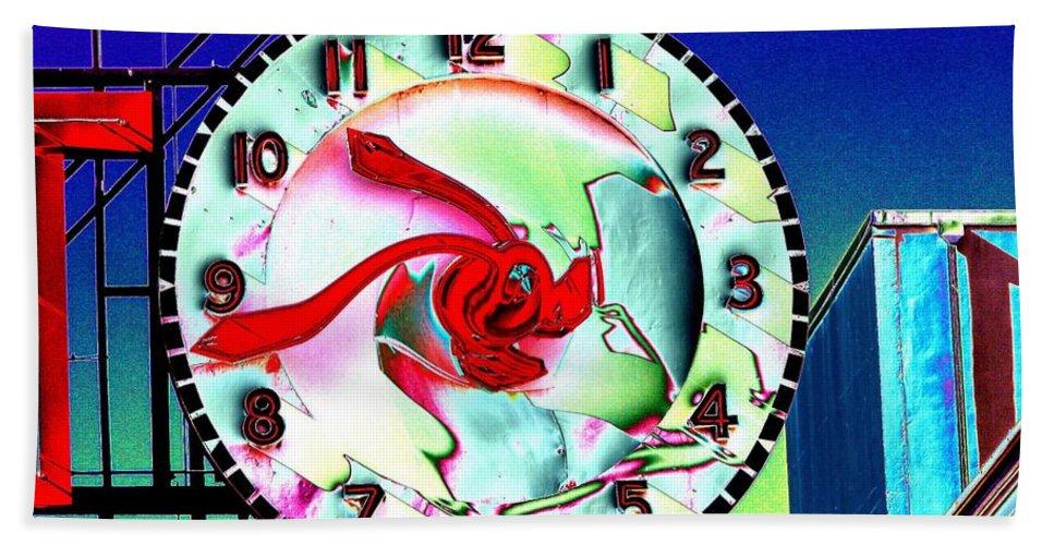 Seattle Beach Sheet featuring the photograph Market Clock 2 by Tim Allen
