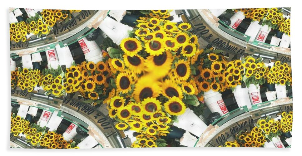 Flowers Beach Towel featuring the photograph Market Flowers by Tim Allen
