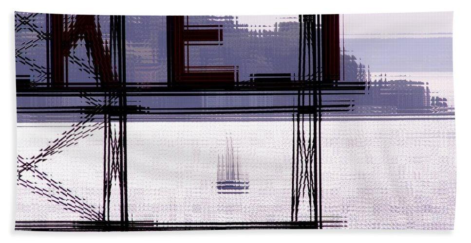 Seattle Beach Towel featuring the digital art Market Sail by Tim Allen