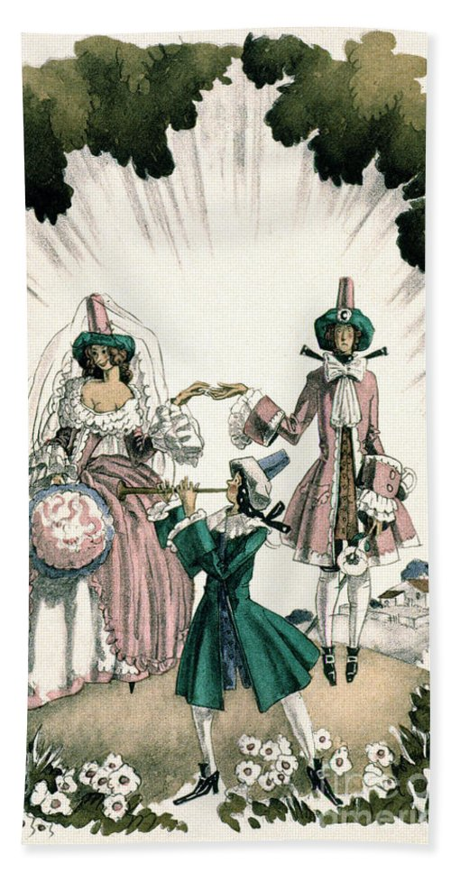 18th Century Beach Towel featuring the photograph Marriage Of Candide by Granger
