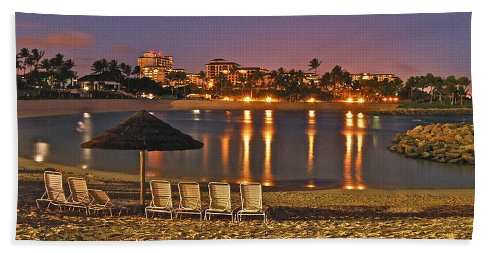 Marriott Beach Towel featuring the photograph Marriott Lagoon by Michael Peychich