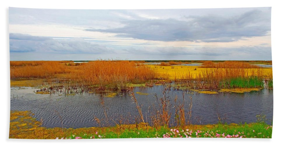 Marshe Beach Towel featuring the photograph Marsh Spring by Robert Brown