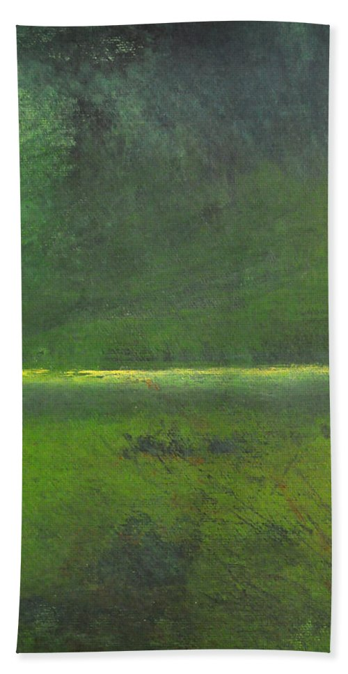 Marsh Beach Towel featuring the painting Marsh by Tim Nyberg