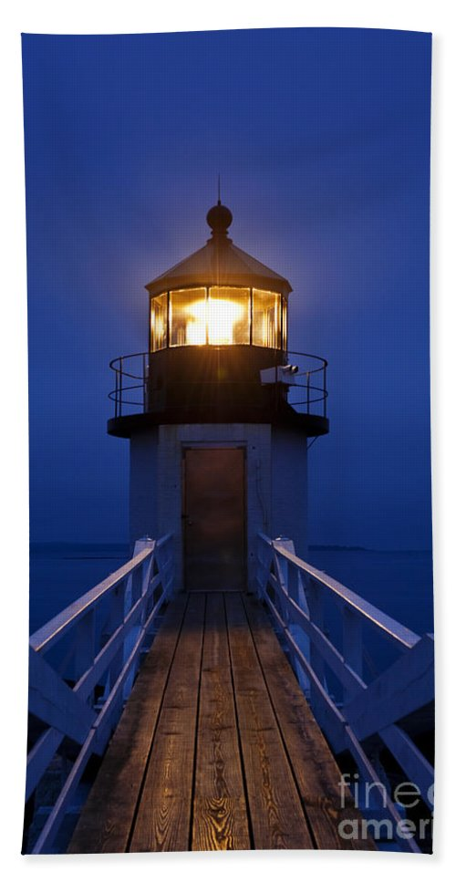Maine Beach Towel featuring the photograph Marshall Point Light Station by John Greim