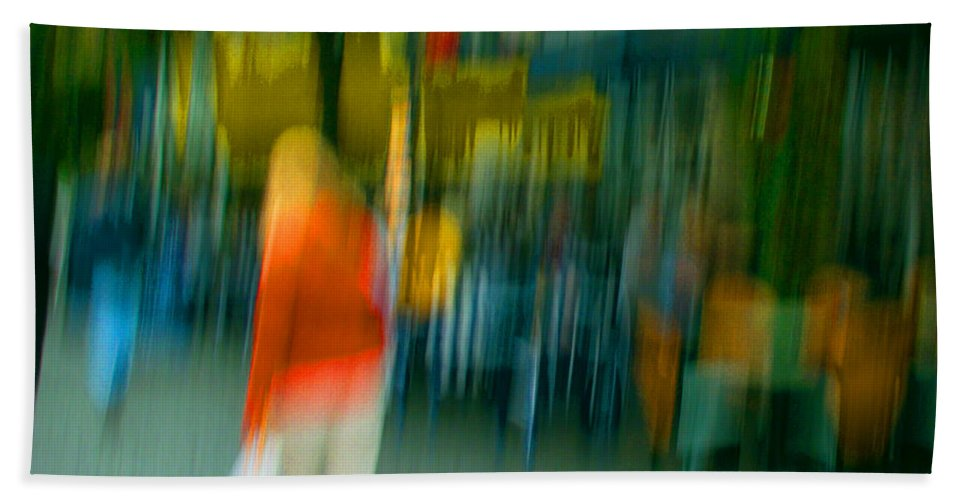 Abstract Beach Towel featuring the photograph Mary Jane by Dorit Fuhg