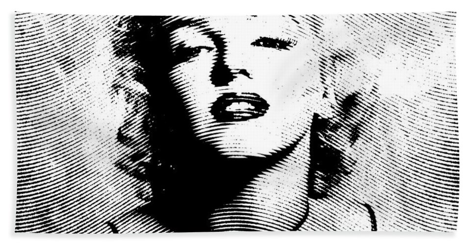 Marylin Beach Towel featuring the digital art Marilyn Monroe - 04a by Variance Collections