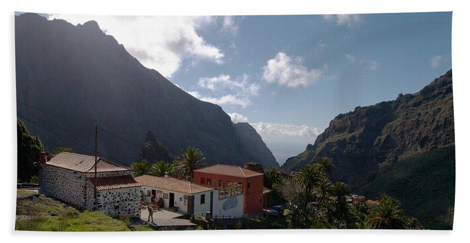 Landscape Beach Towel featuring the photograph Masca Valley And Parque Rural De Teno 4 by Jouko Lehto