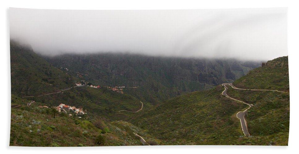Landscape Beach Towel featuring the photograph Masca Valley And Parque Rural De Teno 6 by Jouko Lehto