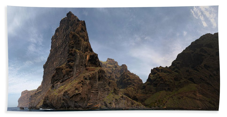 Valasretki Beach Towel featuring the photograph Masca Valley Entrance Panorama by Jouko Lehto