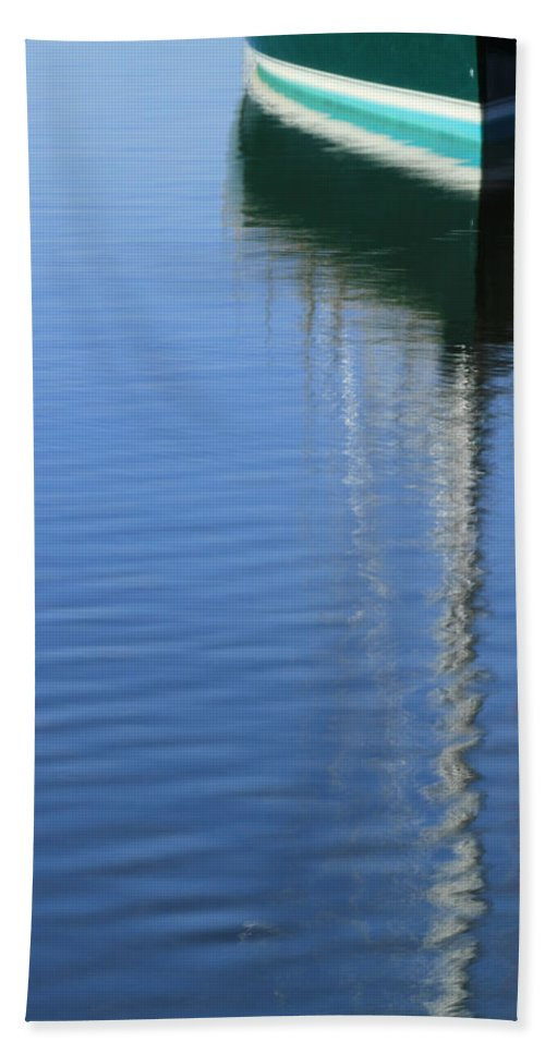 Sailboat Beach Towel featuring the photograph Mast Reflections by Karol Livote