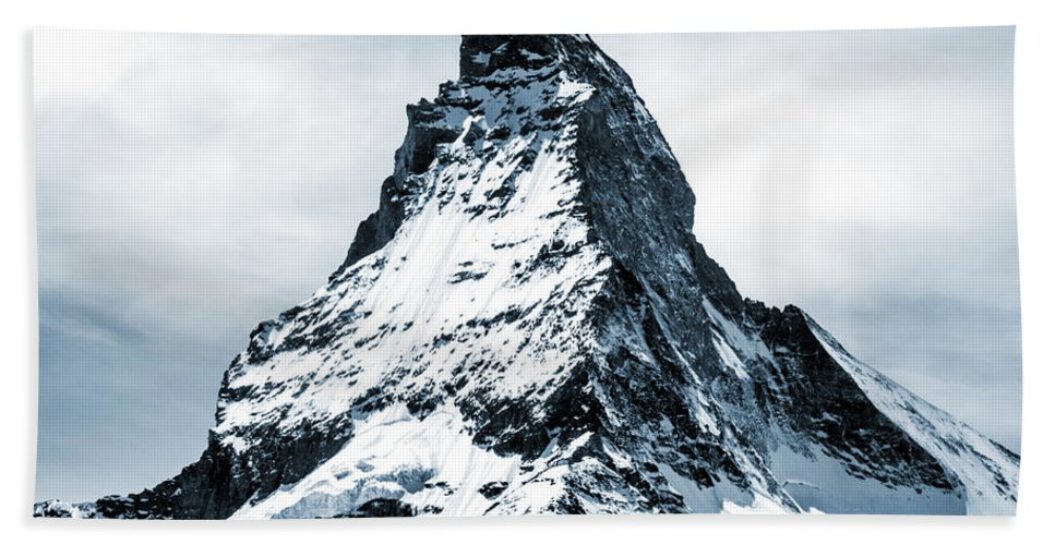 Matterhorn Beach Towel featuring the mixed media Matterhorn by Design Turnpike