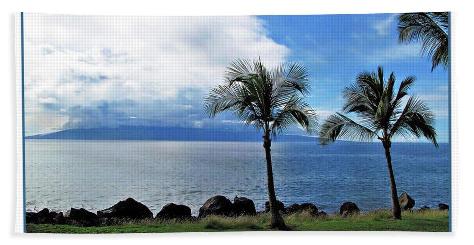 Beach Beach Towel featuring the digital art Maui Clouds by Joan Minchak