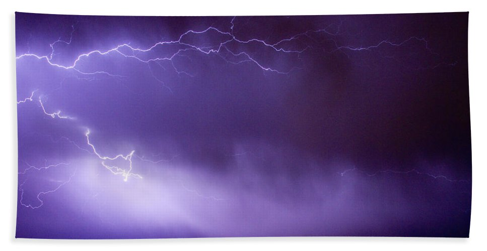 Bo Insogna Beach Towel featuring the photograph May Showers 2 In Color - Lightning Thunderstorm 5-10-11 Boulder by James BO Insogna
