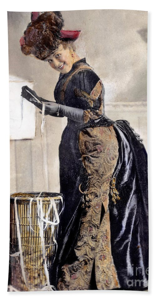 1890 Beach Towel featuring the photograph May Waldron by Granger