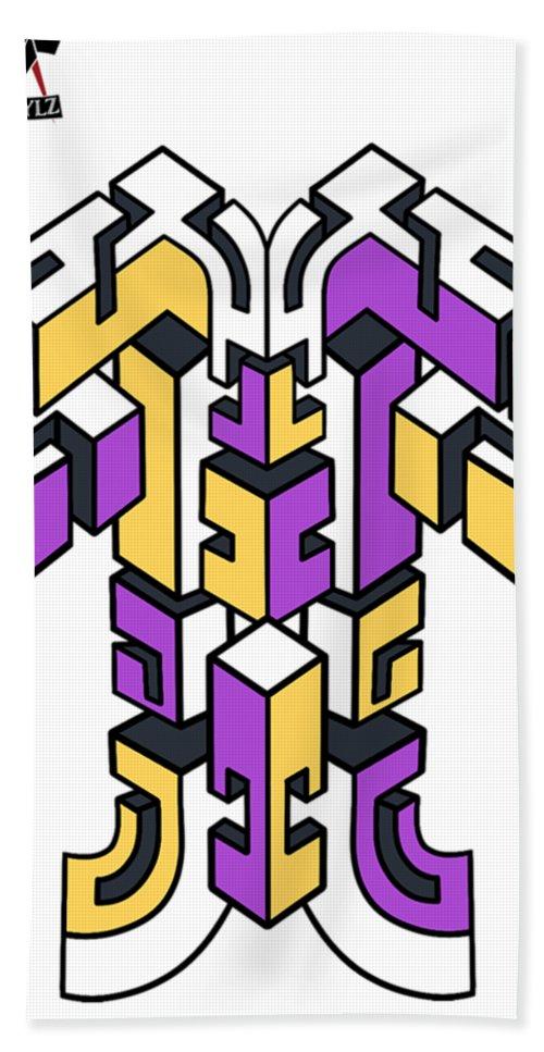 Design Beach Towel featuring the digital art Maze Build 1 by Sean Harriott