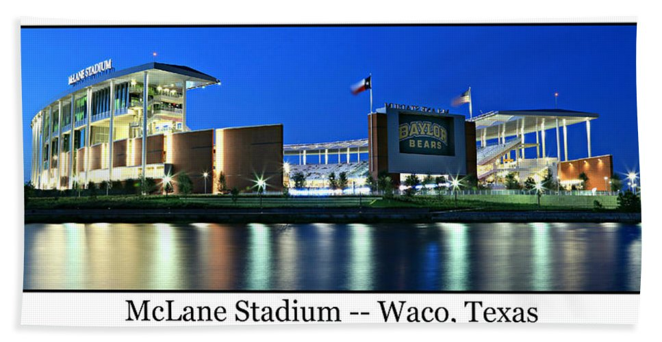 Baylor Beach Towel featuring the photograph Mclane Stadium Print by Stephen Stookey