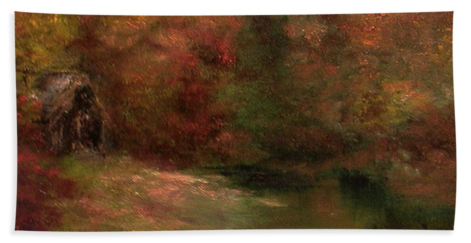 Meadow Beach Towel featuring the painting Meadow In Fall by Sunny Franson