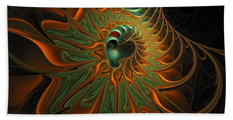 Digital Art Beach Towel featuring the digital art Meandering by Amanda Moore