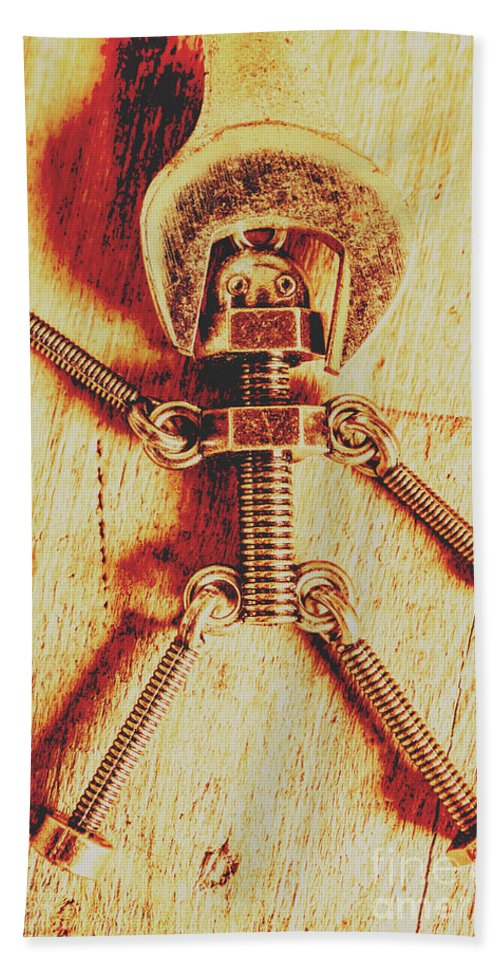 Repair Beach Towel featuring the photograph Mechanical Nut by Jorgo Photography - Wall Art Gallery