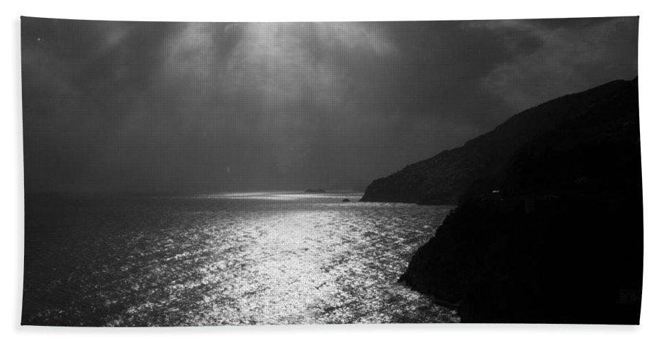 Light Mediterranean Amalfi Coast Beach Towel featuring the photograph Mediterranean Light by Andy Lloyd
