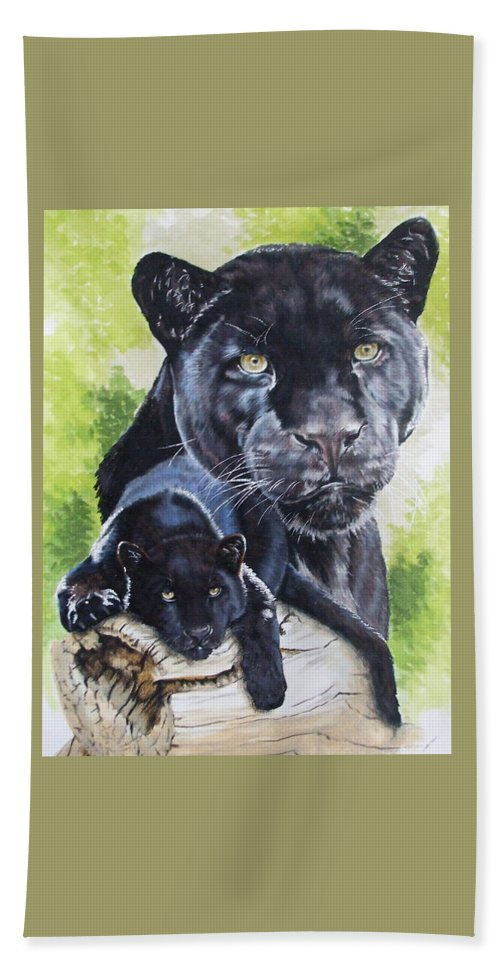 Big Cat Beach Towel featuring the mixed media Melancholy by Barbara Keith
