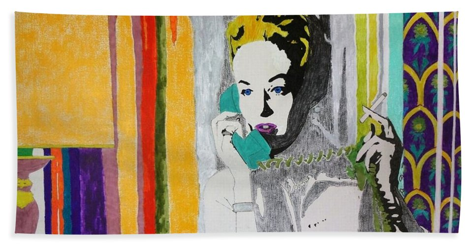 Smoking Beach Towel featuring the painting Melanie by George Hertz