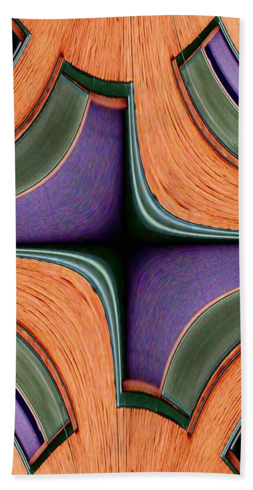 Windows Beach Towel featuring the photograph Melded Windows by Tim Allen