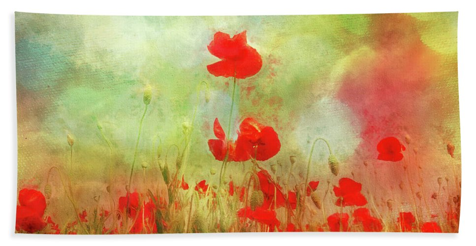 Annie Snel Beach Towel featuring the digital art Melody Of Summer by Annie Snel