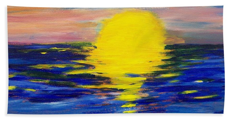 Sun Beach Towel featuring the painting Melt by Laurette Escobar