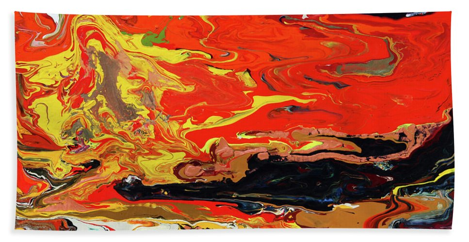 Fusionart Beach Towel featuring the painting Melt by Ralph White