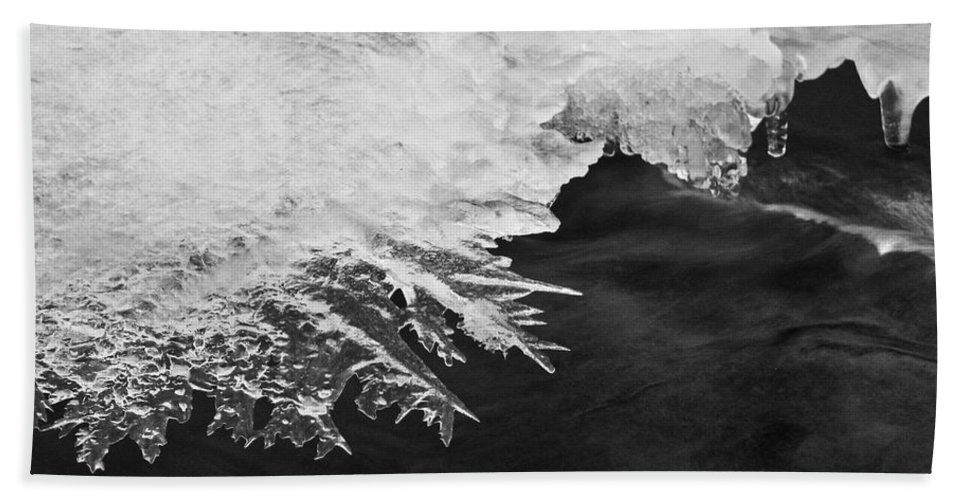 Ice Beach Towel featuring the photograph Melting Creek by Amber Flowers