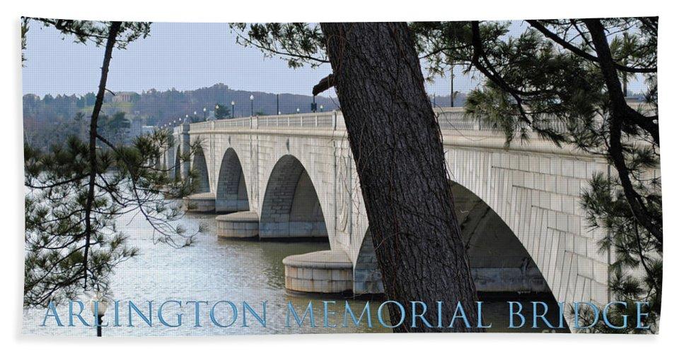 Arlington Beach Towel featuring the photograph Memorial Bridge by Jost Houk