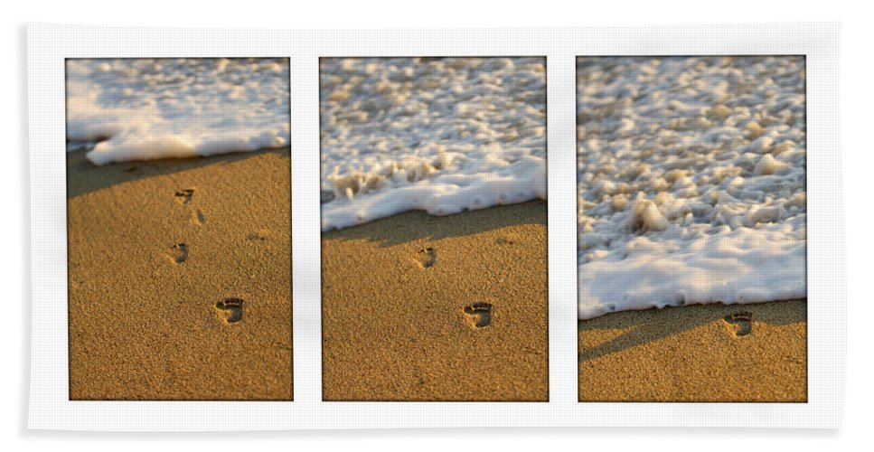 Beach Beach Towel featuring the photograph Memories Washed Away by Jill Reger