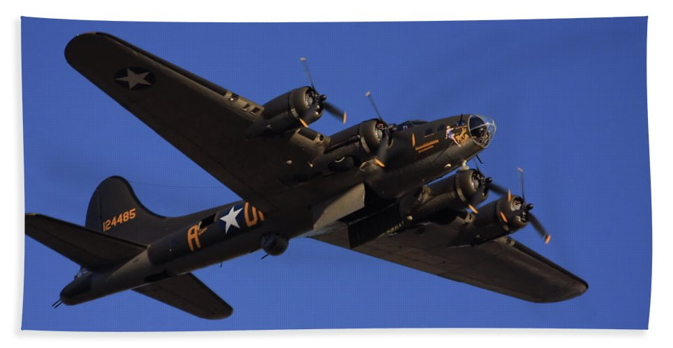 Aircraft Beach Towel featuring the photograph Memphis Belle by Karol Livote