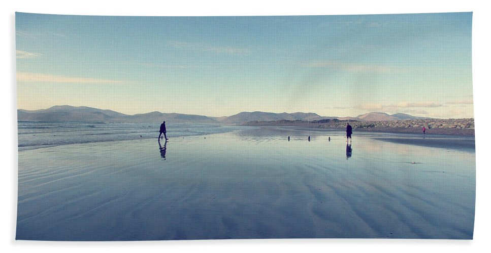 Men Beach Towel featuring the photograph Men At Beach by Hanni Jakob