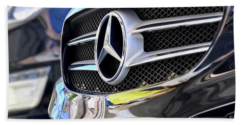 Mercedes Benz Beach Towel featuring the photograph Mercedes Benz by Jeramey Lende