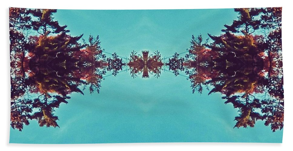 Merging- Turquoise Beach Sheet featuring the digital art Merging - Turquoise by Brenda Plyer