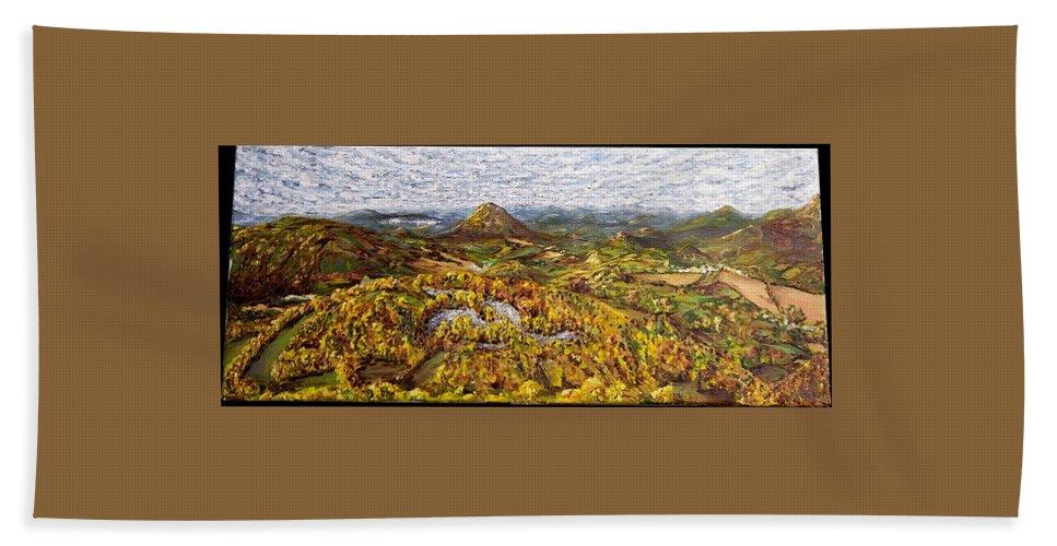 Landscape Beach Towel featuring the painting Merlbortice by Pablo de Choros