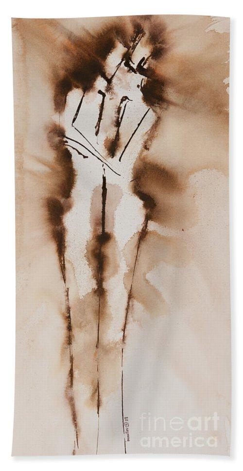 Ilisa Millermoon Beach Towel featuring the painting Mesh II His Divine Love Series No. 1285 by Ilisa Millermoon